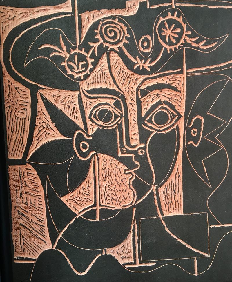"""Grande tête de femme au chapeau orné (A.R. 518)"""" by Pablo Picasso ..."""